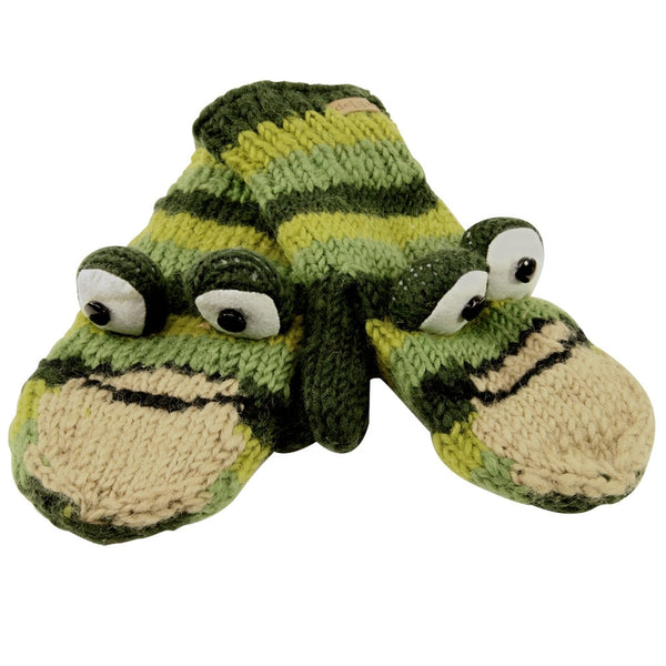 Ferny The Frog Knit Mittens