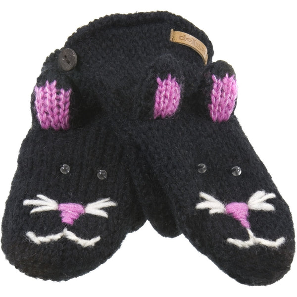 Kiki The Kitty Knit Mittens