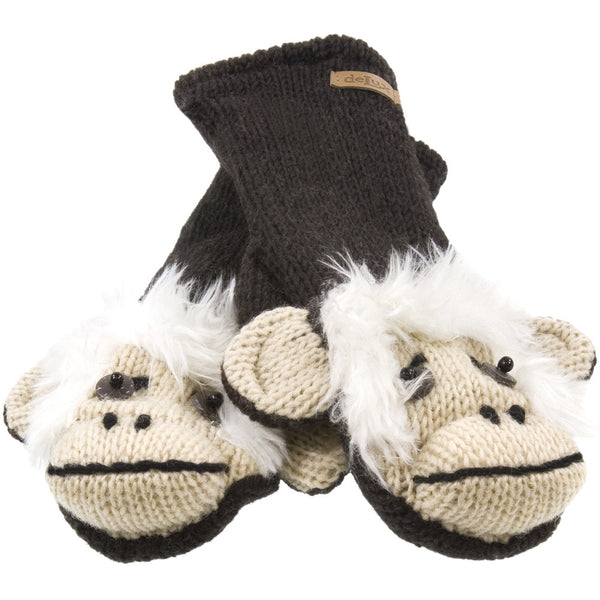 Magus The Monkey Knit Mittens