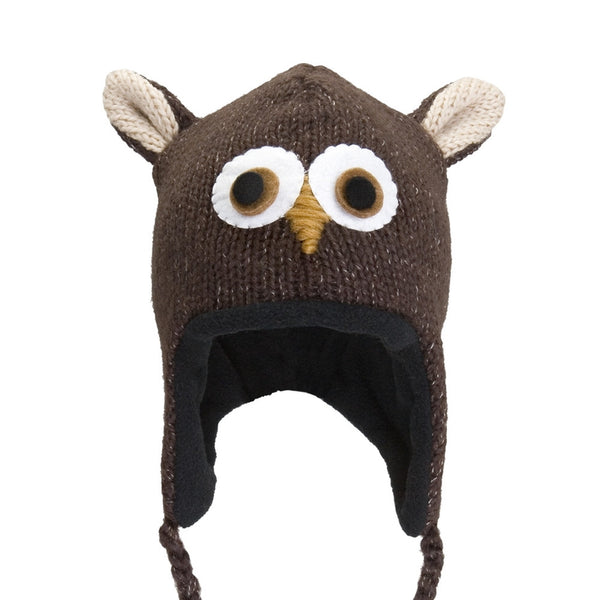 Ozzie The Owl Kids Peruvian Knit Hat
