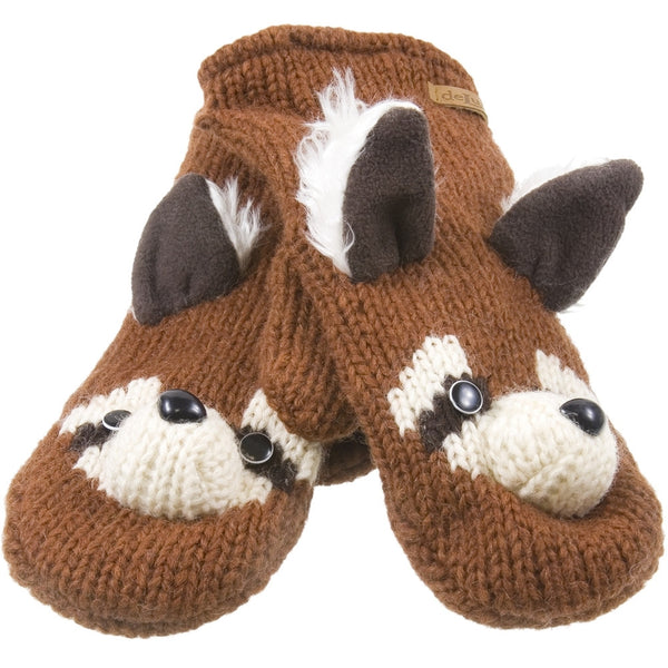 Rico The Raccoon Kids Knit Mittens