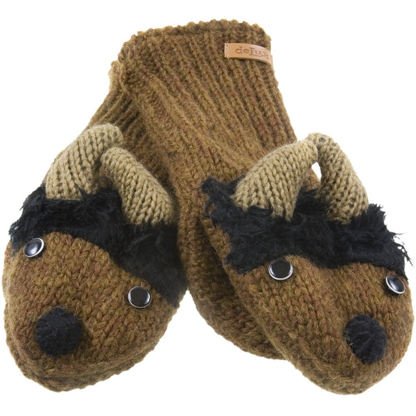 Bill The Bison Knit Mittens