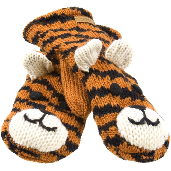Taz The Tiger Knit Mittens
