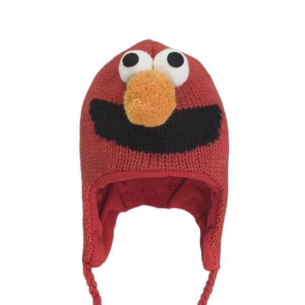 Sesame Street - Elmo Head Kids Peruvian Knit Hat