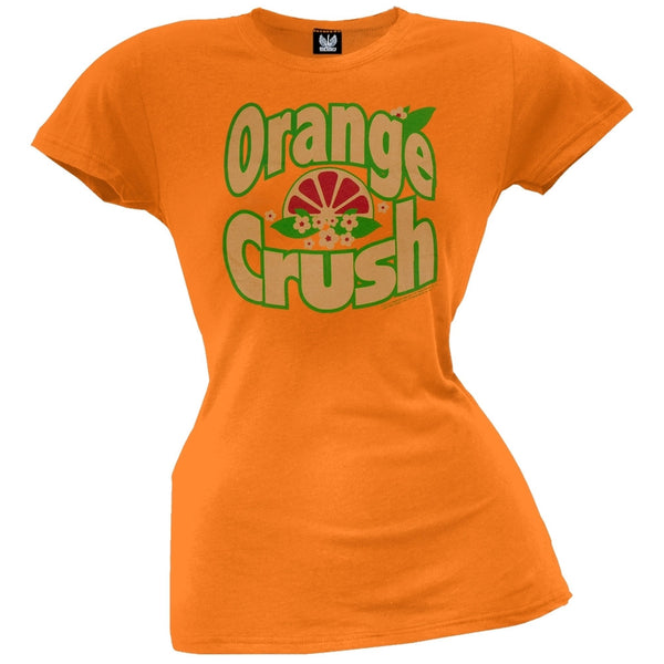 Orange Crush - Floral Slice Logo Juniors T-Shirt