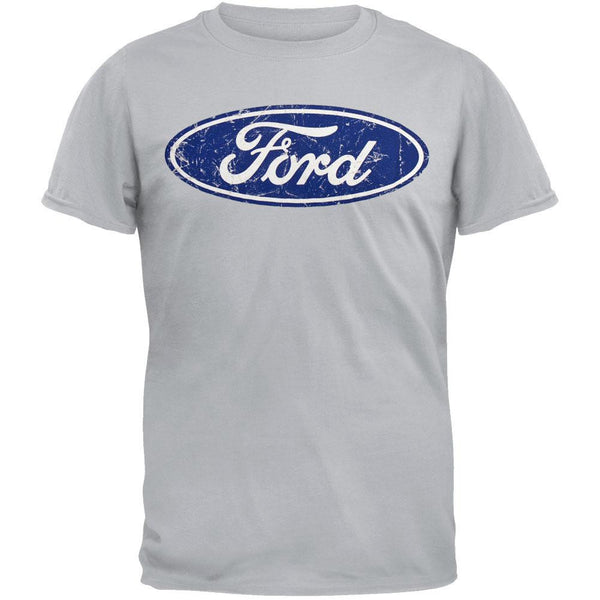 Ford - Distressed Oval Logo T-Shirt