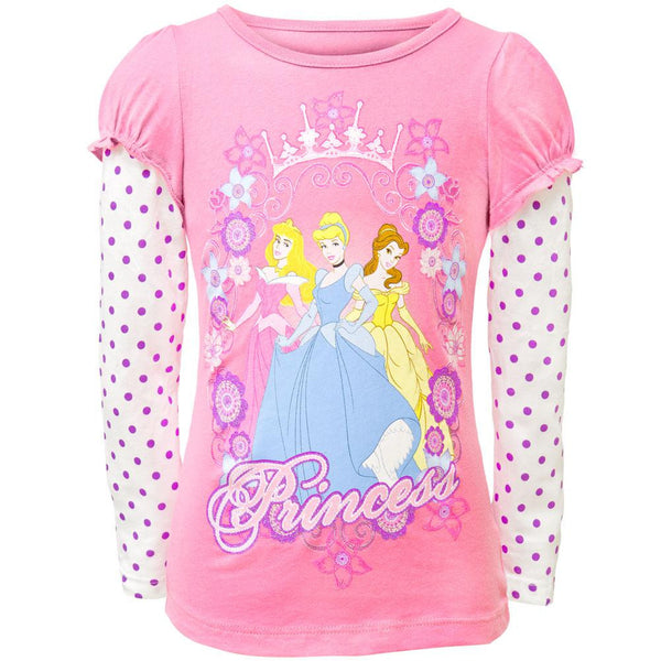 Disney Princess - Royal Frame Girls Juvy 2fer Long Sleeve T-Shirt