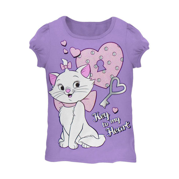 Aristocats - Key To My Heart Girls Juvy T-Shirt
