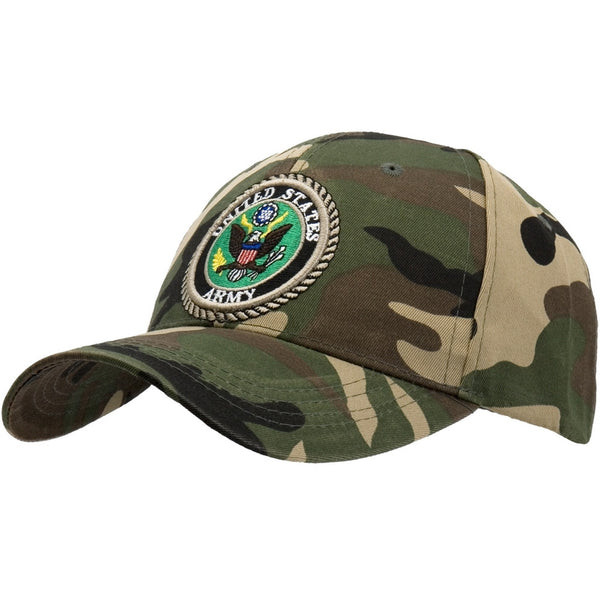 US Army - Logo Camo Adjustable Baseball Cap