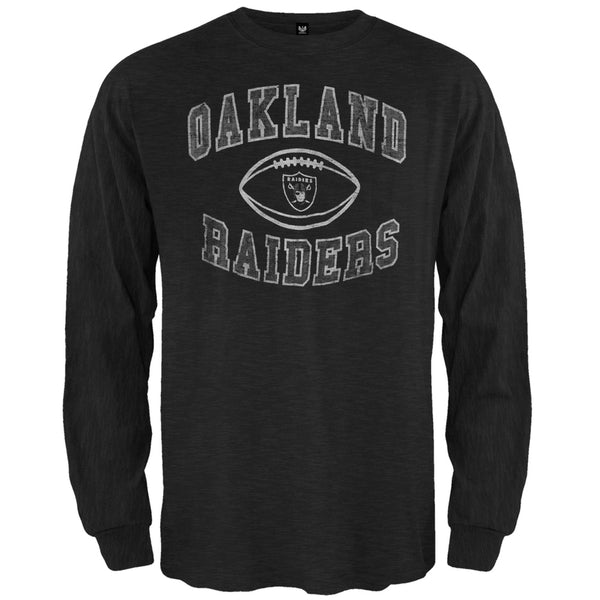 Oakland Raiders - Logo Scrum Premium Long Sleeve T-Shirt