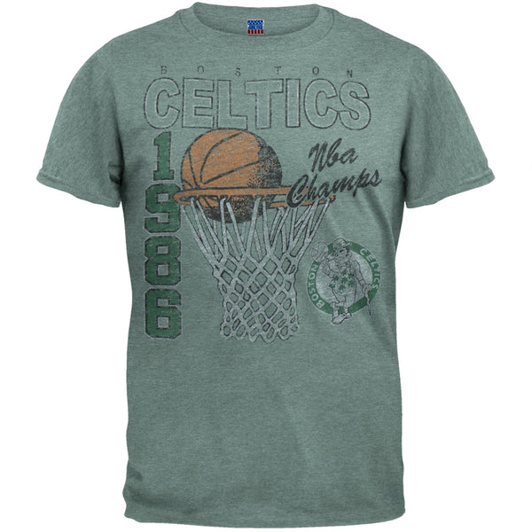 Boston Celtics - 86 Champs Net Logo Soft T-Shirt