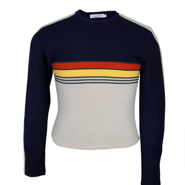 Retro Ski Sweater with Crew neck and stripes
