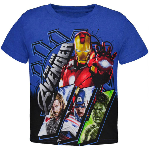 Avengers - Lined Up Frames Juvy T-Shirt