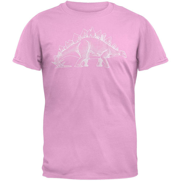 Antlers - Stegosaurus Soft Pink Adult T-Shirt