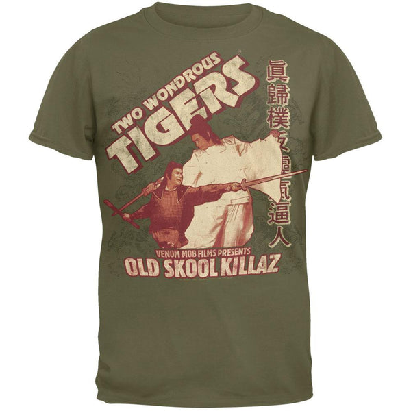 Two Wondrous Tigers - Old Skool Killaz Soft T-Shirt