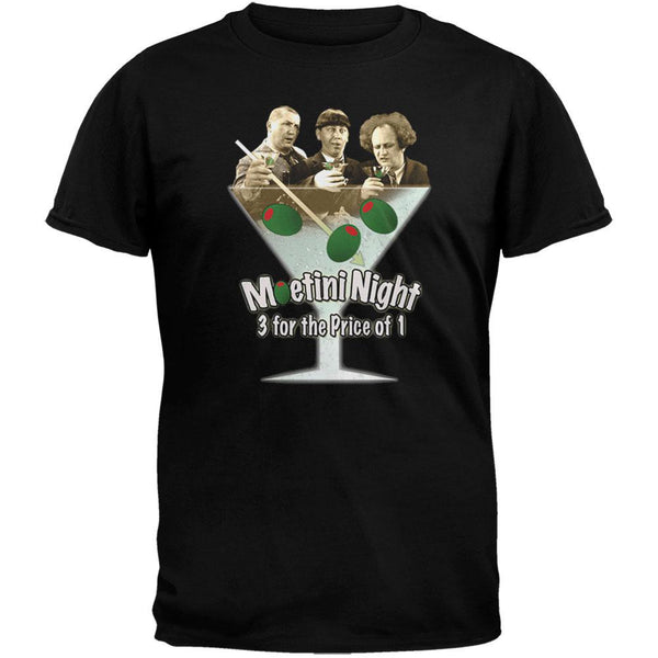 Three Stooges - Moetini Night Black T-Shirt