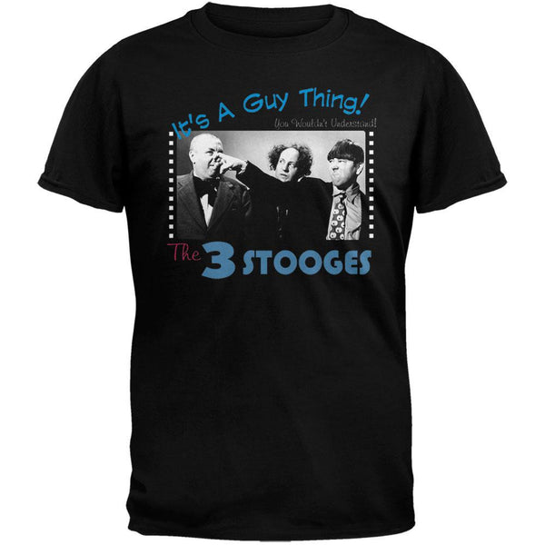 Three Stooges - It's a Guy Thing Black T-Shirt