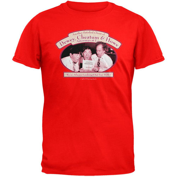 Three Stooges - Attorneys at Law Red Adult T-Shirt