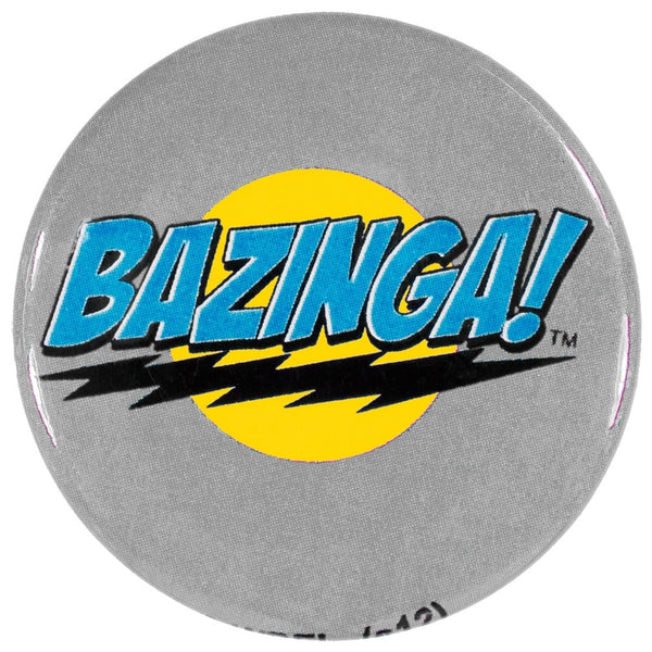 Big Bang Theory - Bazinga Grey Button