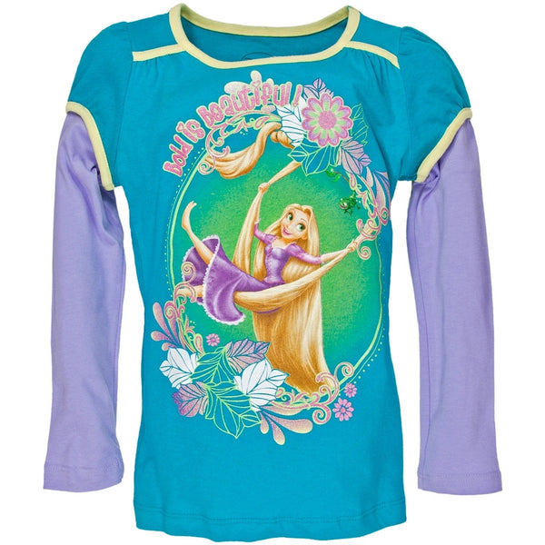 Tangled - Bold is Beautiful Girls Juvy 2fer Long Sleeve T-Shirt
