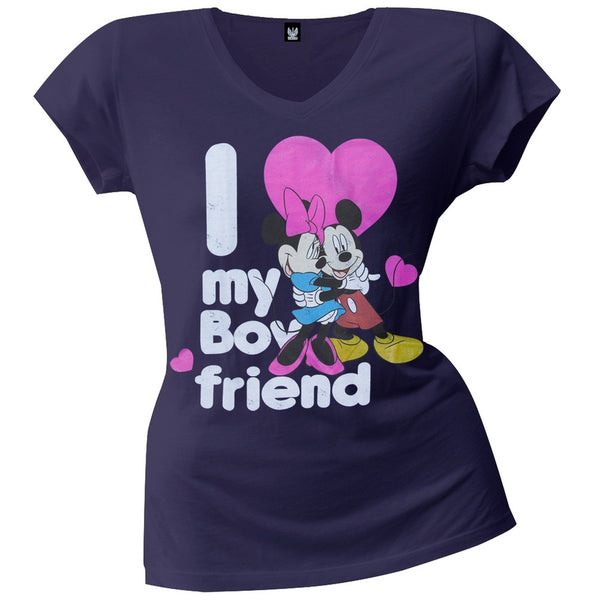 Minnie Mouse - I Luv My Boyfriend Juniors T-Shirt