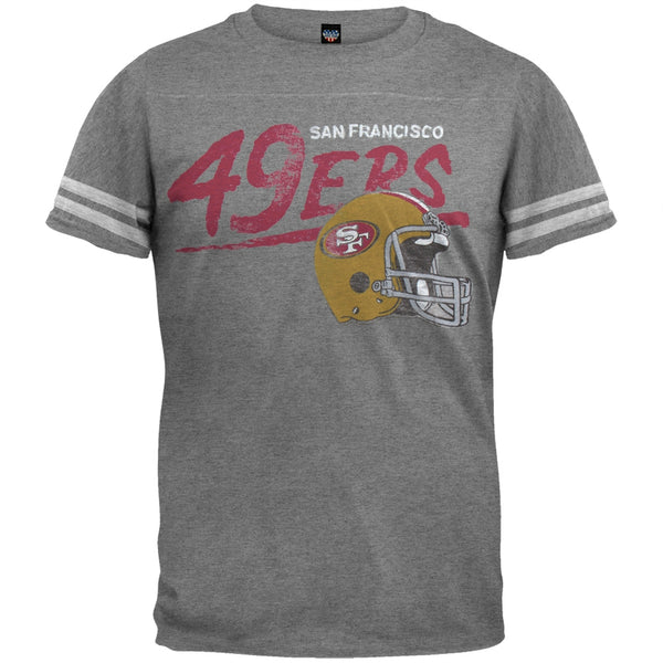 San Francisco 49ers - Throwback Soft Grey T-Shirt