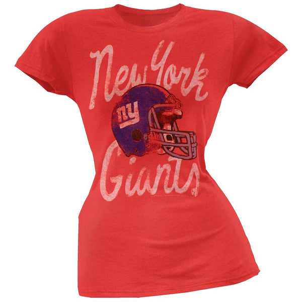 New York Giants - Kick Off Juniors Distressed Red T-Shirt