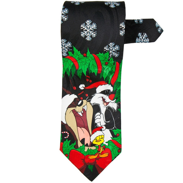 Looney Tunes - Christmas Wreath Necktie