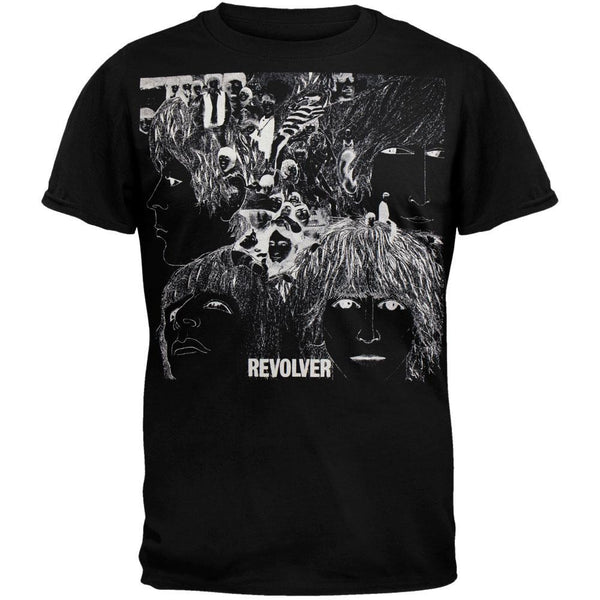 Beatles - Revolver Soft Black T-Shirt