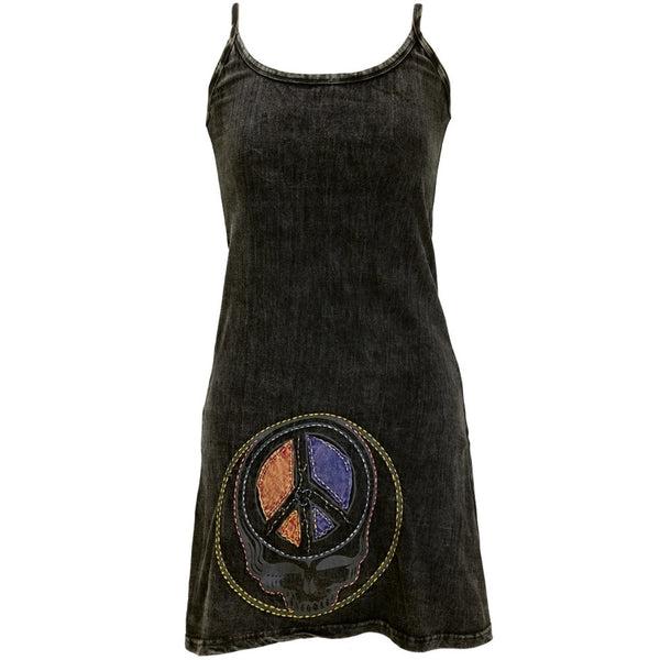 Grateful Dead - Peace Sign SYF Juniors Strappy Dress