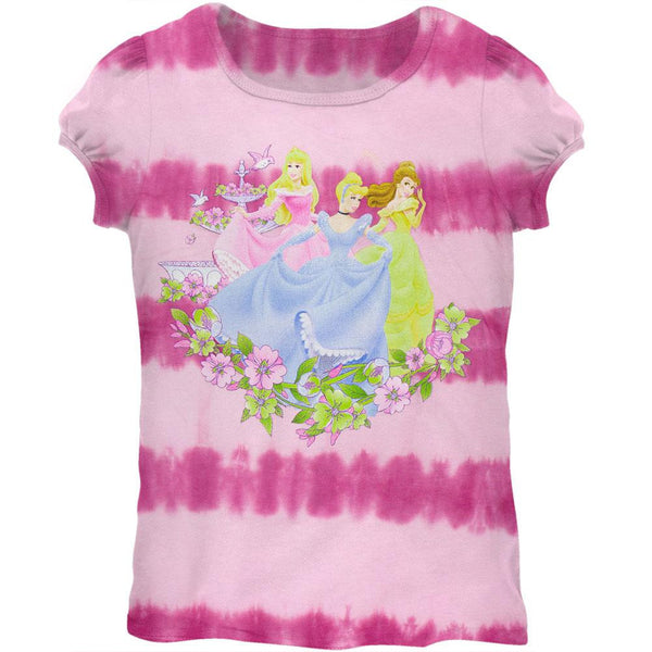 Disney Princesses - Garden Pink Tie Dye Girls Juvy T-Shirt