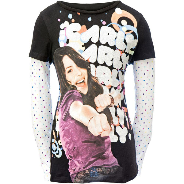 iCarly - Pow Girls Youth 2fer Long Sleeve T-Shirt