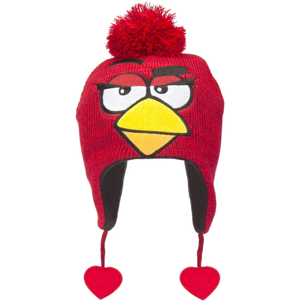 Angry Birds - Female Red Bird Peruvian Knit Hat