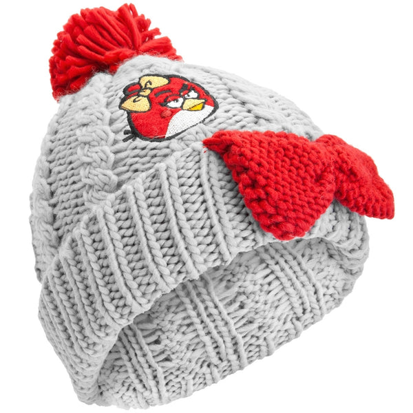 Angry Birds - Female Red Bird Pom Pom Knit Hat