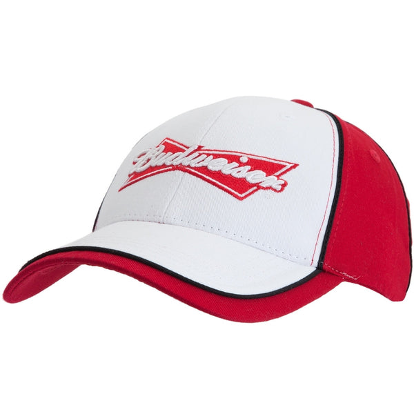 Budweiser - Bowtie Logo White & Red Adjustable Baseball Cap