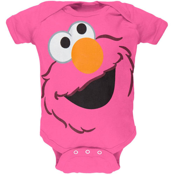 Sesame Street - Tilted Elmo Face Baby One Piece