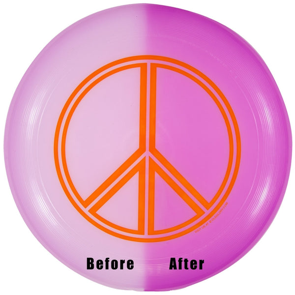 Wham-O - Peace Sign UV Reactive U-Max Frisbee