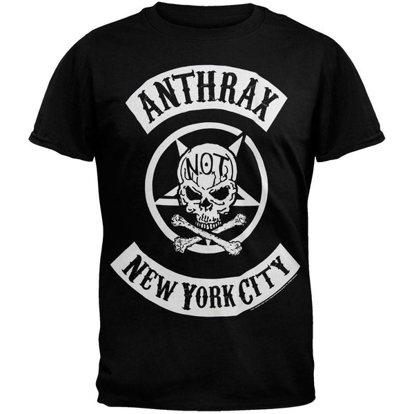 Anthrax - Biker Skull T-Shirt