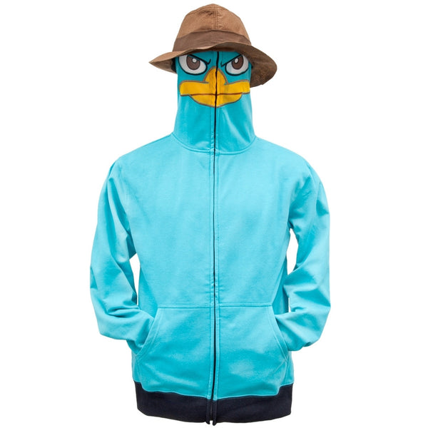Phineas & Ferb - I Am P Costume Zip Hoodie