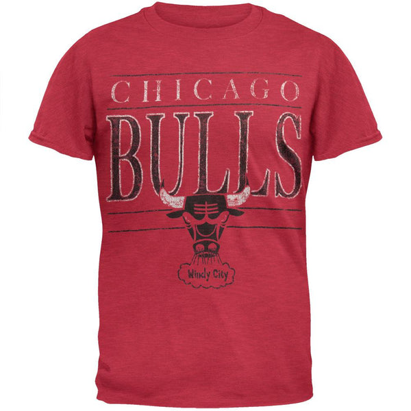 Chicago Bulls - Distressed Windy City Logo T-Shirt