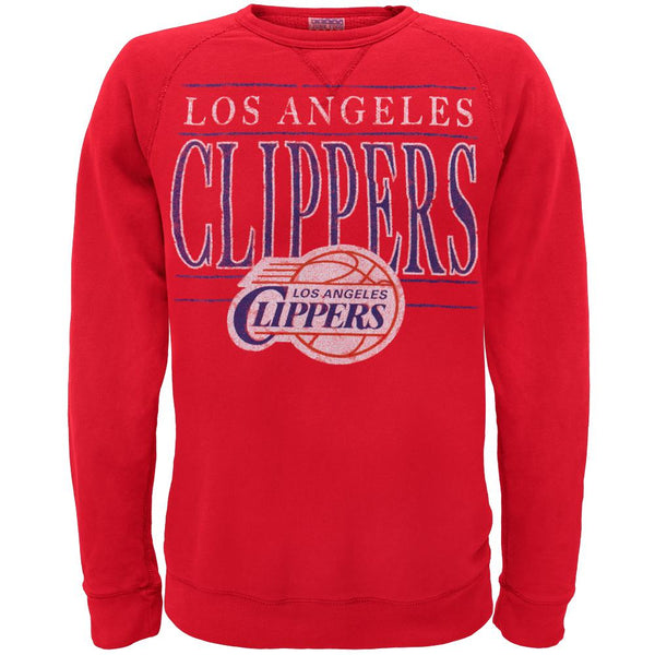 Los Angeles Clippers - Distressed Classic Logo Crew Neck Sweatshirt