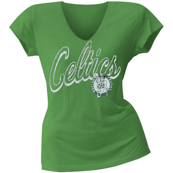 Boston Celtics - Logo Juniors V-Neck T-Shirt