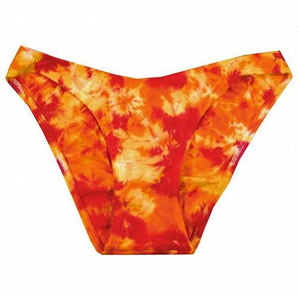 Hot Fire Crinkle Tie Dye Bathing Suit Bottom