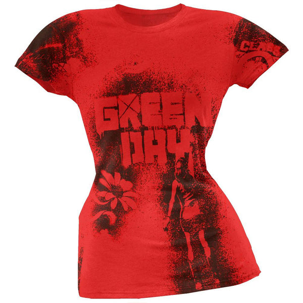 Green Day - Paint All-Over Juniors T-Shirt