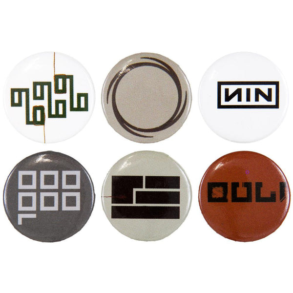 Nine Inch Nails - 6-Piece Logo Button Set One