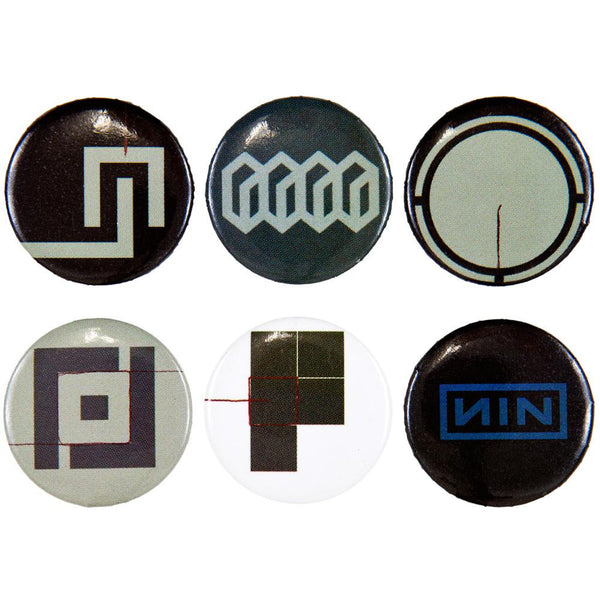 Nine Inch Nails - 6-Piece Logo Button Set Two