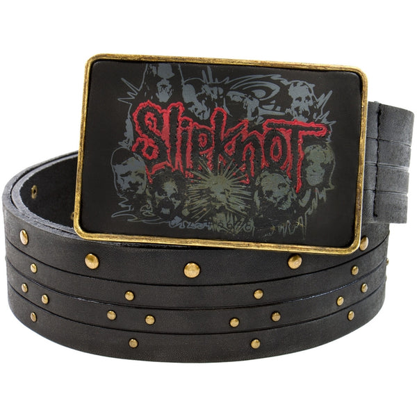 Slipknot - Group Logo Studded Leather Belt