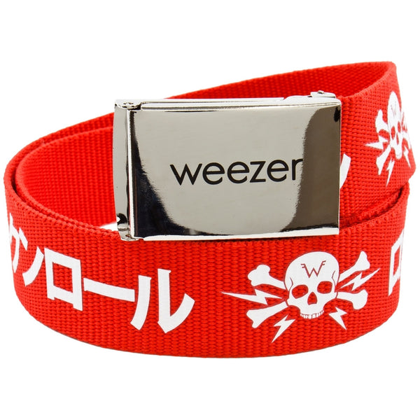Weezer - Kanji Canvas Adjustable Belt