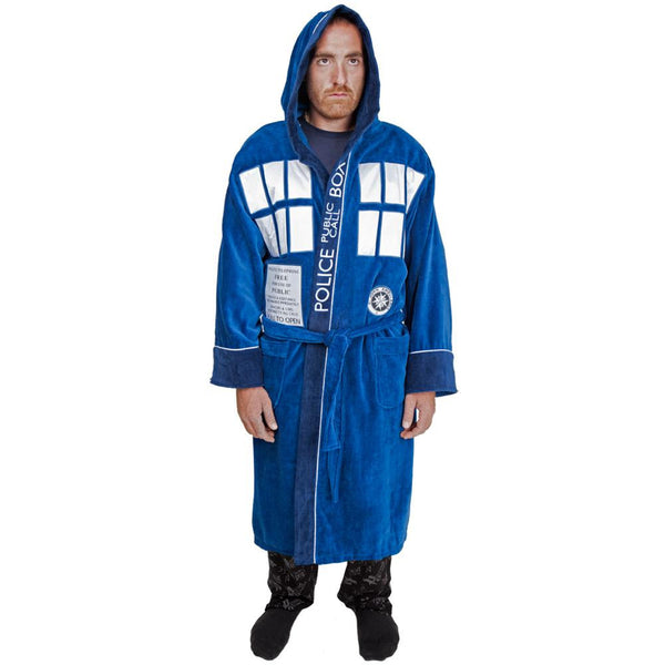 Doctor Who - All-Over Tardis Cotton Bathrobe