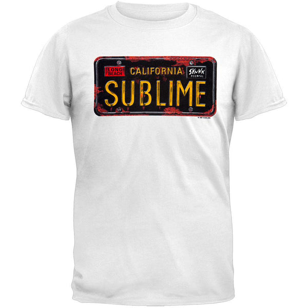 Sublime - License Plate Graphic Adult T-Shirt